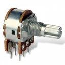 Potencjometr obrotowy 2x100K B liniowy oś 6mm