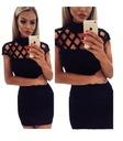 Sukienka mała czarna koktajlowa strapsy  34-42