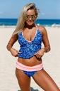 Tankini strój kąpielowy bikini kolorowe 410227 2XL Wzór dominujący bez wzoru