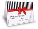 Zaproszenie zaproszenia na urodziny 25 30 40 itp.