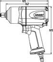 HAZET 9012EL Klucz pneumatyczny 1/2 udarowy 1700 Marka Hazet