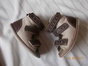 BAJBUT brązowe lniane sandałki kapcie ortopedyczne