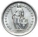 Szwajcaraia - moneta - 1/2 Franka 1965 SREBRO - 2