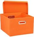 Pudełko Organizer Pomarańczowe 38x33x20cm 2szt.