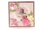 #019 KARTKA, scrapbooking, na urodziny z tortem