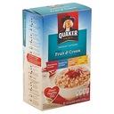 Płatki owsiane Quaker Fruit & Cream 350g z USA
