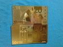 Banknot Pozłacany 24 karat 20.Euro