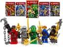 LEGO NINJAGO 5X FIGURKA KAI ZANE LLOYD JAY COLE !
