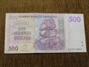 656.ZIMBABWE 500 DOLARÓW