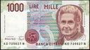 68.WŁOCHY - 1 000 LIRÓW  -1990 - st. , 2