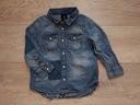 H&M Super Koszula jeansowa łaty przetarcia 98