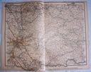 NIEMCY KOLN, DUSSELDORF. Mapa kolejowa.