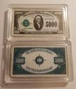 USA PIĘKNA SZTABKA 5000$ AG KOLOR PLATED POLECAM