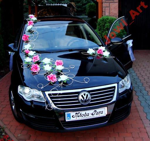 Unikalne Ekskluzywna2 dekoracja samochodu na samochód ślub 5068484911 XI01