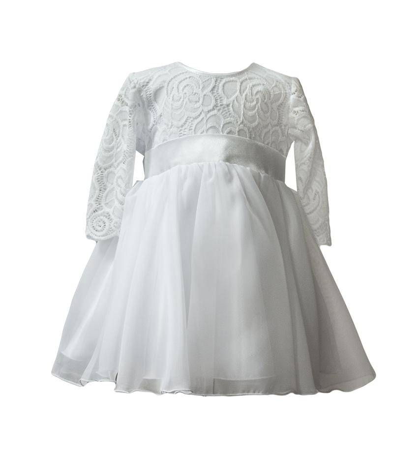 128bbc9b9e Sukienka biała koronka wesele chrzest wizytowa 68 7095139398 - Allegro.pl