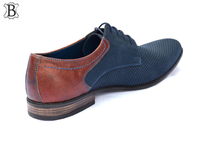 Buty garniturowe polskie buty skórzane 322N-DZ