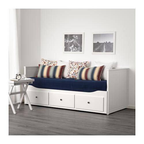 Ikea Hemnes łóżko Rozkładane Z 3 Szufladami Białe
