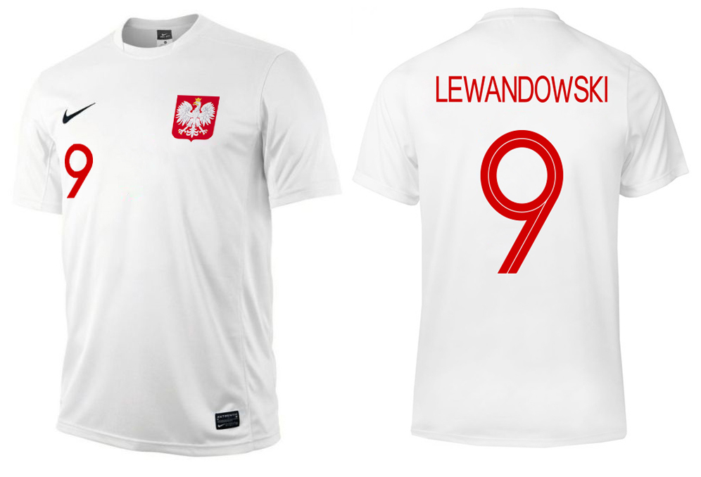 1ca855734 KOSZULKA NIKE POLSKA LEWANDOWSKI PREZENT S 6178292362 - Allegro.pl