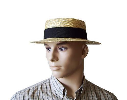 3b6bc26a0 Kapelusz jest bez podszewki z potnikiem z taśmy rypsowej. Posiada niską  płaską główkę. Rondo kapelusza jest proste. Szerokość ronda ok 6 cm.