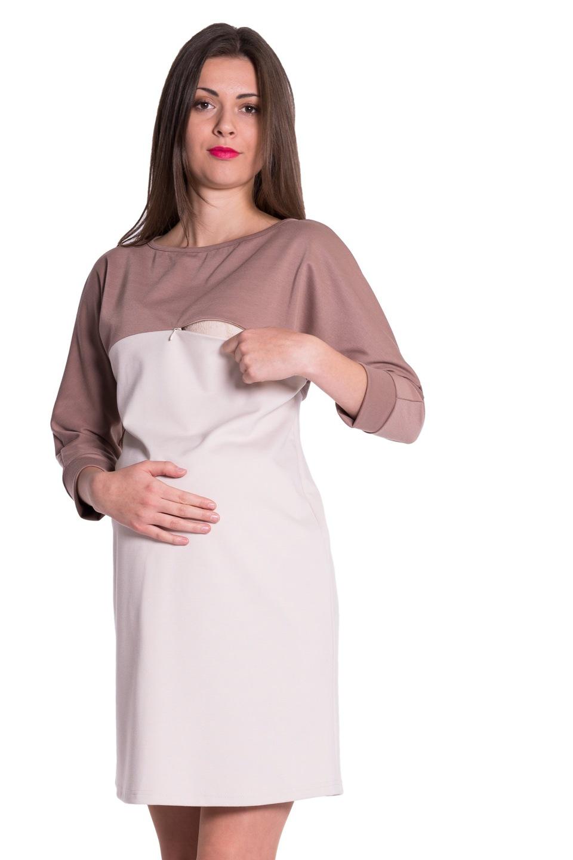 Sukienka ciążowa do karmienia zamek 3990 Oasi M