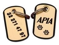 DWUSTRONNY Identyfikator,adresówka, grawer dla Psa