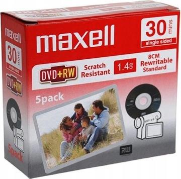 Диски для камеры MAXELL Mini DVD+RW 8cm 1,4 GB 5 шт доставка товаров из Польши и Allegro на русском