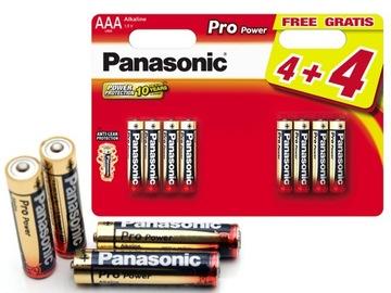Panasonic щелочные Батарейки 8x PRO Power LR03/AAA доставка товаров из Польши и Allegro на русском