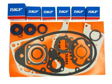 КОМПЛЕКТ ПОДШИПНИКА ПРОКЛАДКИ ДВИГАТЕЛЬ SKF C3 WSK 125 доставка товаров из Польши и Allegro на русском