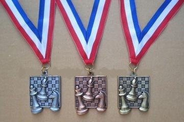 Медаль шахматный квадратный СЕРЕБРО - тяжелый! доставка товаров из Польши и Allegro на русском
