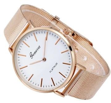 Женские часы золотая роза GENEVA металлический ремешок доставка товаров из Польши и Allegro на русском