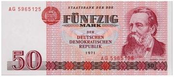 Германия - DDR - КУПЮРА - 50 Марок 1971 - ЭНГЕЛЬС доставка товаров из Польши и Allegro на русском