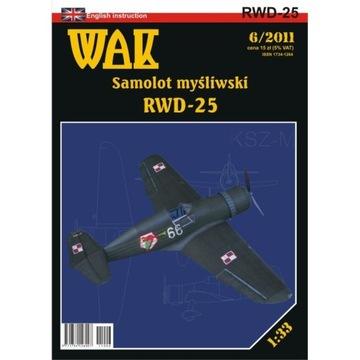 ОАК 6/11 - истребитель Самолет RWD-25 1:33 доставка товаров из Польши и Allegro на русском