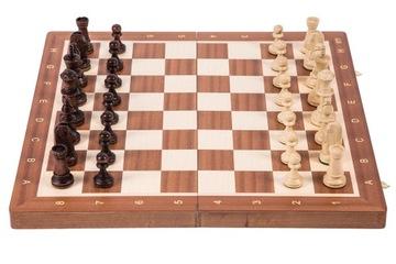 SQUARE - Шахматы деревянные ТУРНИРНЫЕ № 5 - КРАСНОЕ дерево доставка товаров из Польши и Allegro на русском