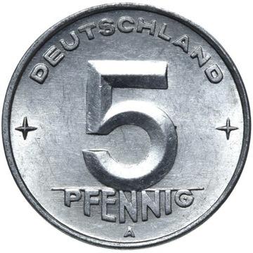 Германия DDR - монета - 5 Pfennig 1950 - БЕРЛИН доставка товаров из Польши и Allegro на русском