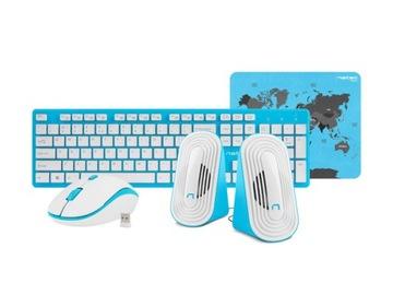 Комплект беспроводная клавиатура мышь колонки доставка товаров из Польши и Allegro на русском
