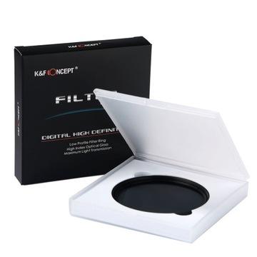 K&F CONCEPT ND Фильтр серый 58 мм ФЕЙДЕР ND2-400 доставка товаров из Польши и Allegro на русском