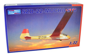 Модель планера SZD-22-МУХА STD (1:72) + клей доставка товаров из Польши и Allegro на русском