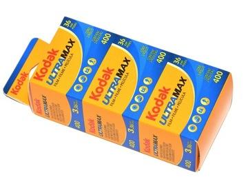 Kodak Ultra Max 400 / 36x3 цветная пленка GOLD holiday  доставка товаров из Польши и Allegro на русском