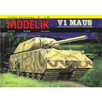 Штампик 16/10 V1 MAUS - немецкий супер танк 1:25 доставка товаров из Польши и Allegro на русском