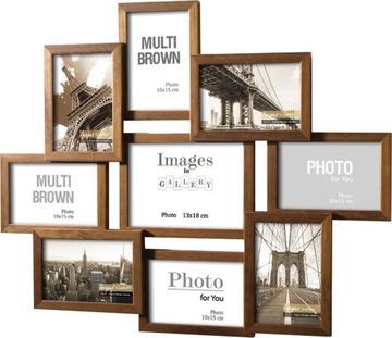 Fotografie: Drevený Multirama 9 - Photo Frame Gallery
