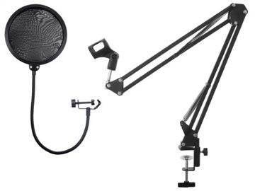 Mikrofón Držiak statívu + Studio Pop Filter