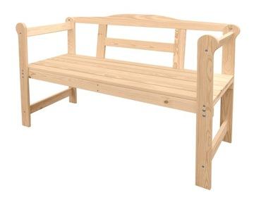 Dvojitá drevená záhradná lavica