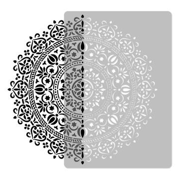 MALIARSKE ŠABLÓNY viacnásobné / 45x65cm / MANDALA 1