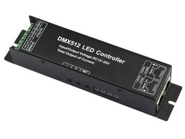 DMX 512 Controller RGBW 16A 4X4A LED pásku Dekodér