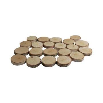Prstene Drevené drevené škvrny 3-9 cm 80 kusov!