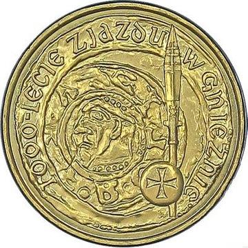 Монета 2 злотых. Конгресс в Гнезно