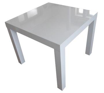 Белый стол GLOSS 90x90 + 2x50 или 80x80 габариты