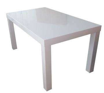 Белый GLOSS стол 140x80 + 2x50 / 120x80 размеры