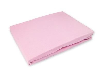 Podložka na matrac - Nieprzemakalne Prześcieradło 160x200 Jersey Różowe