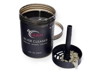 Płyn do czyszczenia SREBRA 236ml GLAIN z koszykiem